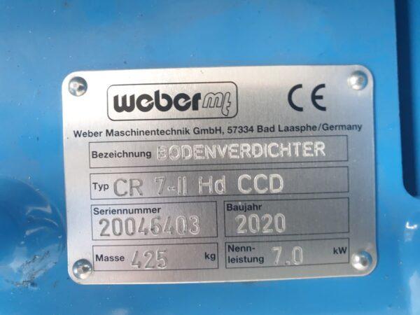 397kg CR 7 Hd Weber reverseeritav pinnasetihendaja