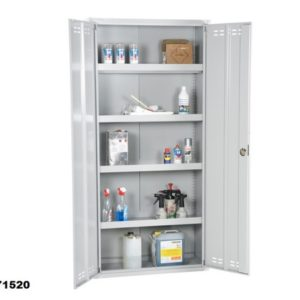 Chemical Cabinet 195x92x42 Flatpack, Grey 4010071520