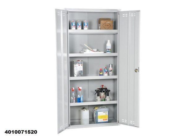 Chemical Cabinet 195x92x42 Flatpack, Grey 4010071520